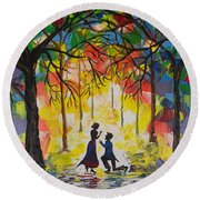 Enchanted Proposal Round Beach Towel