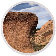 Enchanted Rock Round Beach Towel
