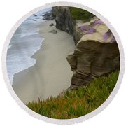 Enchanted Spaces California La Jolla Round Beach Towel
