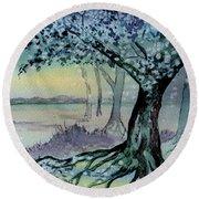 Enchanted Tree Round Beach Towel