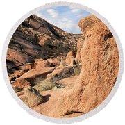 Enchanting Rocks Round Beach Towel