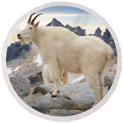 Enchantment Goat Round Beach Towel