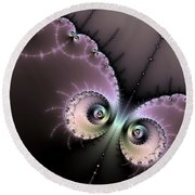 Encounter - Digital Fractal Artwork Round Beach Towel