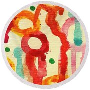 Encounters 3 Round Beach Towel