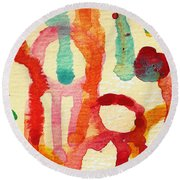 Encounters 5 Round Beach Towel