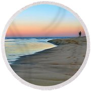 End Of A Perfect Day Round Beach Towel