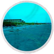 End Of The Day At Isle Of Palms Round Beach Towel