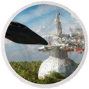 End Of The Kordoni Accords... Round Beach Towel