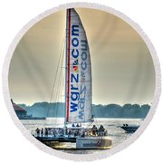 End Of The Tour Back To Shore Round Beach Towel