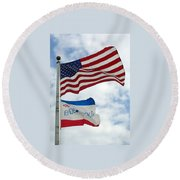 Endeavour Mission Round Beach Towel