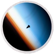 Endeavour Silhouette Sts 130 Round Beach Towel