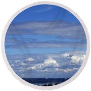 Endless Clouds Round Beach Towel