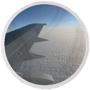 Endless Cotton Cloud Under The Wing Round Beach Towel