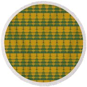 Endless Forest Round Beach Towel