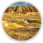 Endless Painted Hills Round Beach Towel