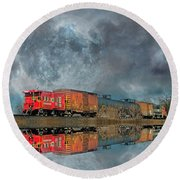 End's Reflection Round Beach Towel