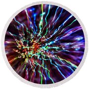 Energy 2 - Abstract Round Beach Towel