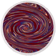 Energy Euphoria Wave Art Suitable For Large Format Prints Digital Graphic Signature   Art  Navinjosh Round Beach Towel