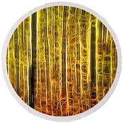 Energy Of The Forest Autumn Color Round Beach Towel