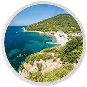 Enfola Beach - Elba Island Round Beach Towel