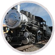 Engine 4455 In The Colorado Railroad Museum Round Beach Towel