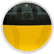 Engine Bay Rear Window Round Beach Towel