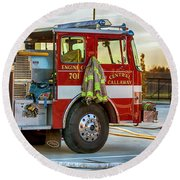 Engine Company 701 Round Beach Towel