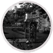 English Country Garden And Mansion - Series II Round Beach Towel