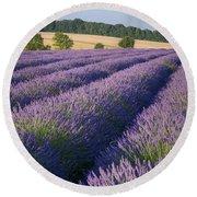 English Lavender Round Beach Towel