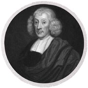 English Naturalist John Ray Round Beach Towel