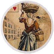 English Playing Card, C1754 Round Beach Towel