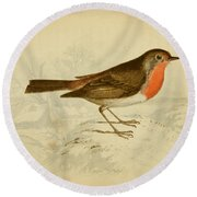 English Robin Round Beach Towel by Philip Ralley