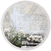 English Roses IIi Round Beach Towel