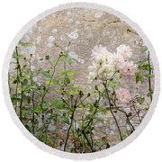 English Roses Iv Round Beach Towel