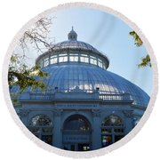 Enid A.haupt Conservatory Round Beach Towel