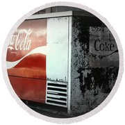 Enjoy Coca Cola  Round Beach Towel