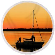 Enjoy The Moment 02 Round Beach Towel