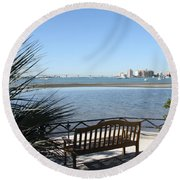 Enjoy The View Round Beach Towel