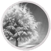 Enlightened Tree Round Beach Towel