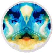Enlightenment - Abstract Art By Sharon Cummings Round Beach Towel