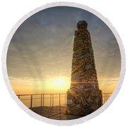 Ensign Peak Nature Park Utah Round Beach Towel