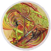 Entanglement Of Life Round Beach Towel