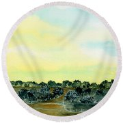 Entering The Shire Round Beach Towel