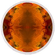 Entertaining Energy Abstract Pattern Artwork By Omaste Witkowski Round Beach Towel