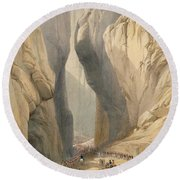 Entrance To The Bolan Pass From Dadur Round Beach Towel
