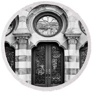 Entry Bw Charleston Sc Round Beach Towel