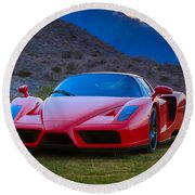 Enzo Ferrari Bold Round Beach Towel