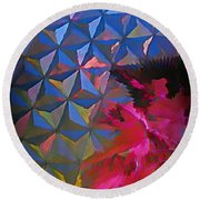 Epcot Centre Abstract Round Beach Towel