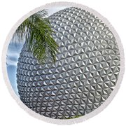 Epcot Globe Round Beach Towel by Thomas Woolworth