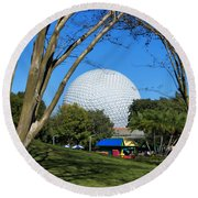 Epcot Globe Walt Disney World Round Beach Towel